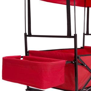 Bolderkar Rood, handkar, opvouwbaar, afneembaar dak