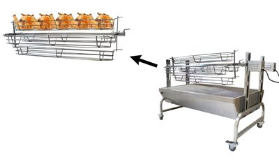 Grill mandjes voor kip, vis, mosselen etc. Geschikt voor onze lamsgrillen