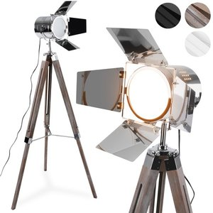Uitgelezene Staande lamp, vloerlamp, filmlamp, lamp op statief, antiek hout PT-38