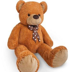 Teddybeer 56 cm, Valentijnsdag, knuffelbeer, Teddy L, knuffel, beer bruin