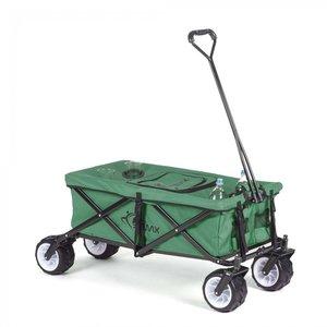 Bolderkar met afdekhoes, transportkar, opvouwbaar, groen, offroad