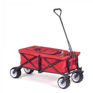 Bolderkar met afdekhoes, transportkar, opvouwbaar, rood, offroad