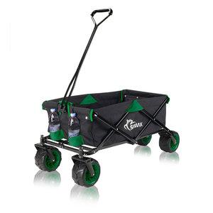 Bolderkar, transportkar, opvouwbaar, zwart/groen, offroad