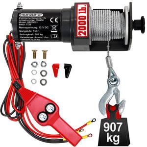 Elektrische lier - 12 volt - 907 kg