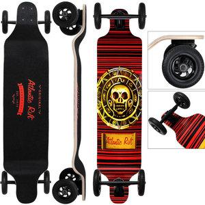 Offroad longboard, skateboard, drop-down board, ABEC 9 lagers, rood