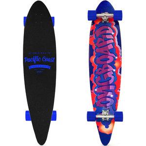 Longboard, skateboard Pacific 112 cm , blauw, 44 Inch