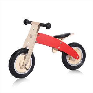 Houten loopfiets in rood 10 inch Chopper
