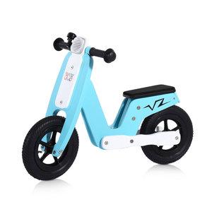 Houten loopfiets in blauw 10 inch Scooter