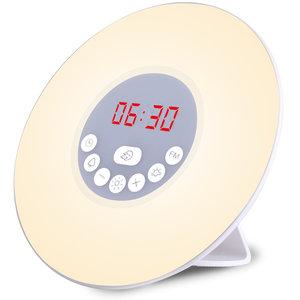 LED-lichtalarm, wekker, alarmklok, digitale wekker, Radiowekker Zonsopkomst