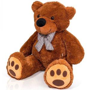 """Teddybeer """"Tommy"""" bruin, 120 cm, knuffelbeer, pluche beer, valentijnsdag, cadeau, kado"""