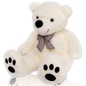 "Teddybeer ""Tommy"" wit, 120 cm, knuffelbeer, pluche beer, valentijnsdag, cadeau, kado"