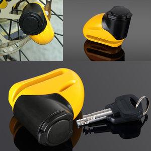 Schijfremslot van staal voor motor of fiets, sleutel met LED-verlichting, herinneringskabel