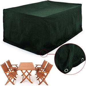 Afdekhoes voor tuinset tafel met 4 stoelen, weers- en scheurvast, groen