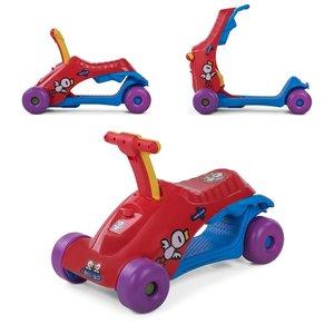 2 in 1 loopauto en step in rood