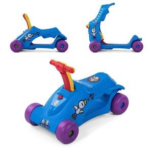 2 in 1 loopauto en step in blauw