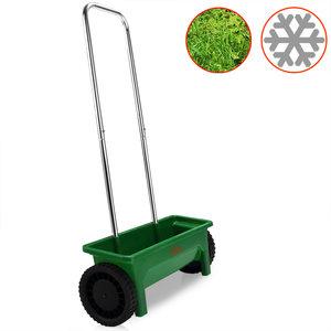 Strooiwagen, zoutstrooier, kunstmeststrooier, instelbaar, regelbaar, 12 liter