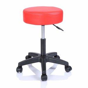 Werkkruk Rood, rolkruk, werkstoel, krukje