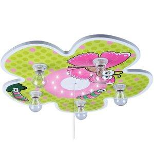 Bloemrijke kinderlamp, plafondlamp met sluimerlicht