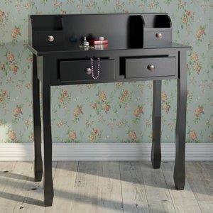 Uitgelezene Kaptafel, make-up tafel, zwart - Somultishop SZ-78
