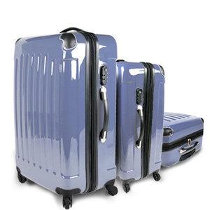 Kofferset, set van 3 koffers, ijsblauw, trolleyset, reiskofferset