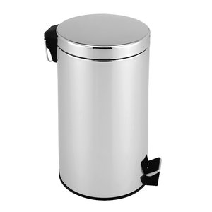 Pedaalemmer 5 liter, roestvrijstaal, hoogglans, afvalemmer, vuilnisbak, vuilemmer