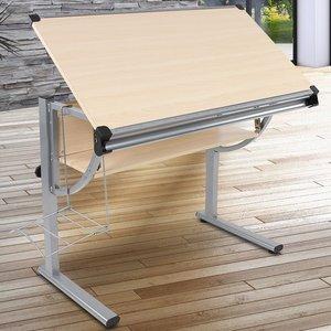 Kinder tekentafel beuken, schrijftafel, bureau
