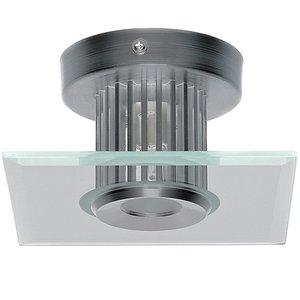 Plafondlamp, wandlamp, 40 watt, sfeerverlichting, glasplaat vierkant, plafondspot, muurspot