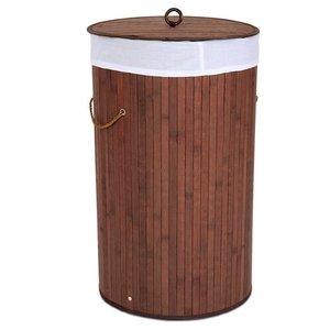Waskorf bruin, 70 liter, bruin, wasbox, bamboe, wasmand