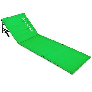 Strandmat met rugleuning, groen, strand bed, ligbed