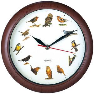 Klok met vogel geluiden, wandklok, kinderklok, dierenklok