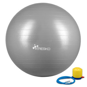 Yogabal Grijs 55 cm, Trainingsbal, Pilates, gymbal