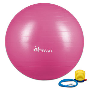 Yogabal Roze 75 cm, Trainingsbal, Pilates, gymbal