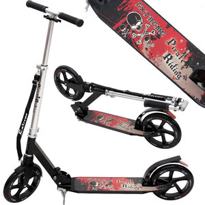 "Freestyle step, grote wielen 230 mm stuntstep, step, ABEC9 lagers, ""Extreme Pirate Riding"" uitvoering"